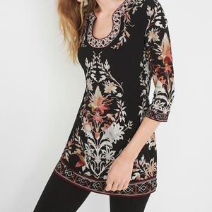 White House Black Market Printed tunic top NWT XS